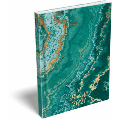 PlanAll A6 Mini 2021 Green Marble