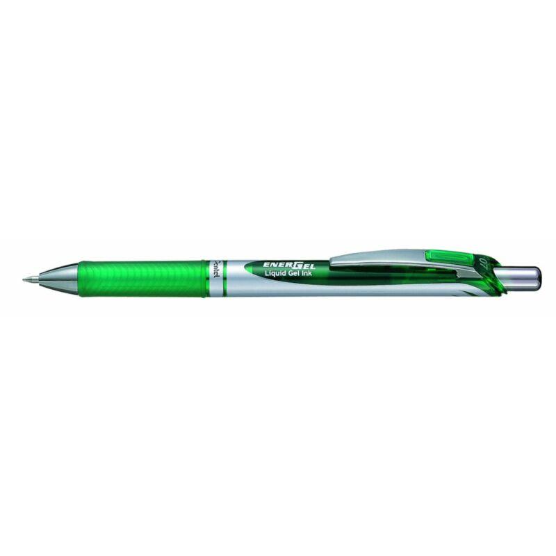 Pentel Zselés rollertoll EnerGel 0,7 zöld tintával BL77-DO