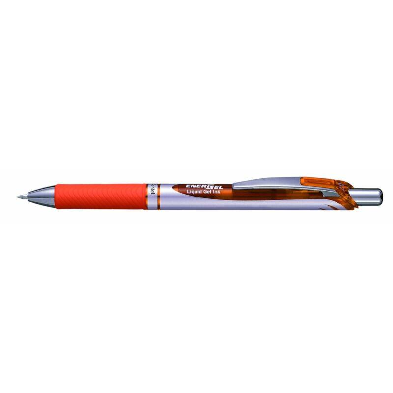 Pentel Zselés rollertoll EnerGel 0,7 narancs tintával BL77-FX