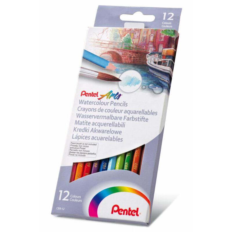 Pentel Színesceruza aquarell 12 szín CB9-12U