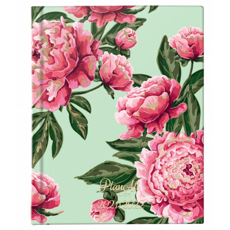 PlanAll Study Mini 2021/22 Pink Flower