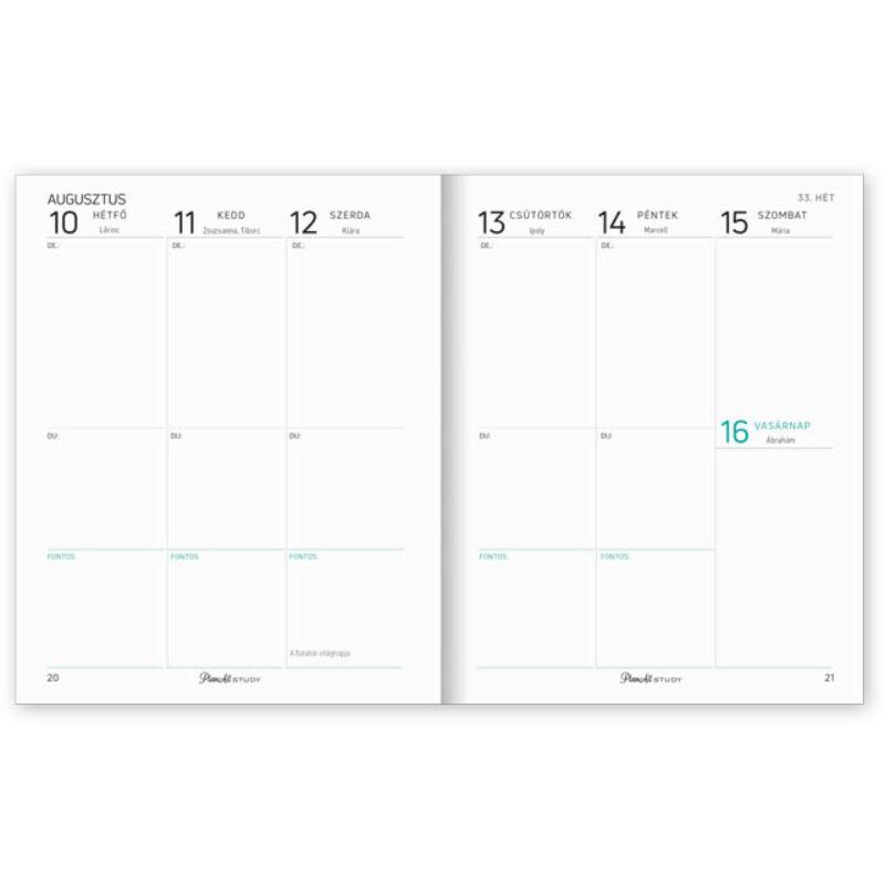 Planall Study Mini B6 Diák Tervező Summer