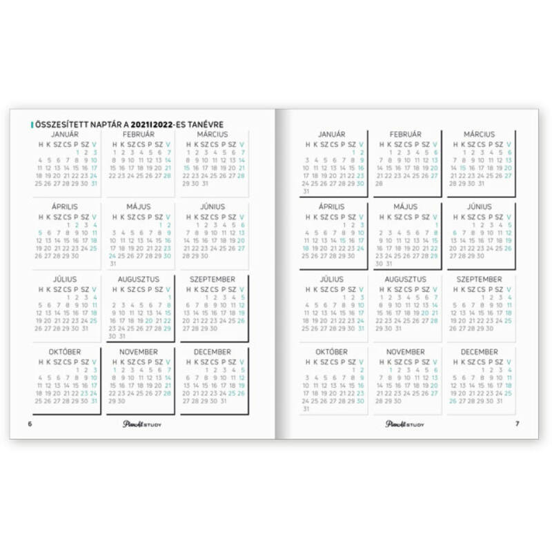PlanAll Study Mini 2021/22 Romantic