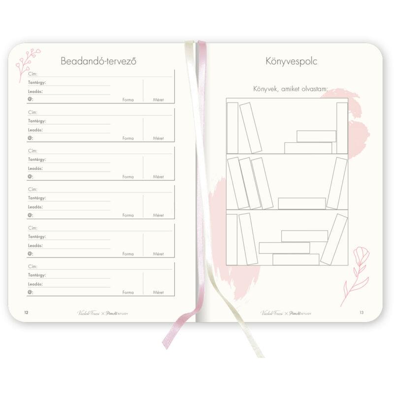 Viszkok Fruzsi PlanAll Study A5 Rose