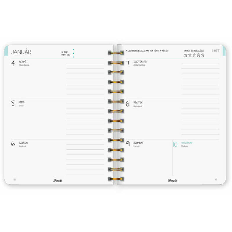 PlanAll Journey heti tervező